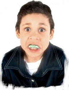 Boy Chewing with mouth open